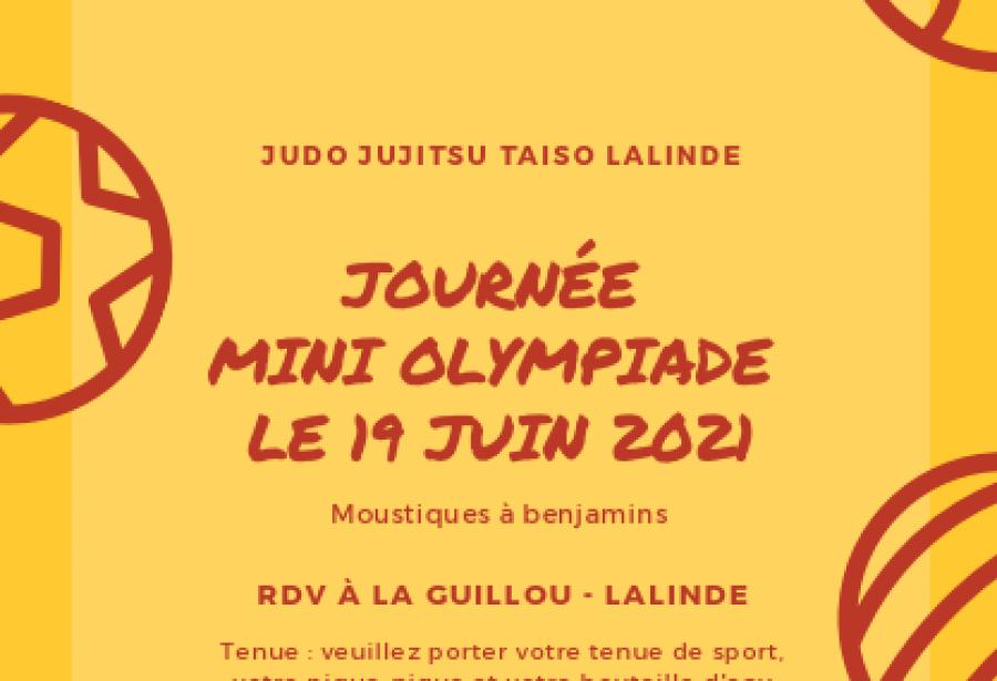 JOURNEE MINI-OLYMPIADE 19 JUIN LA GUILLOU - MOUSTIQUES A BENJAMINS
